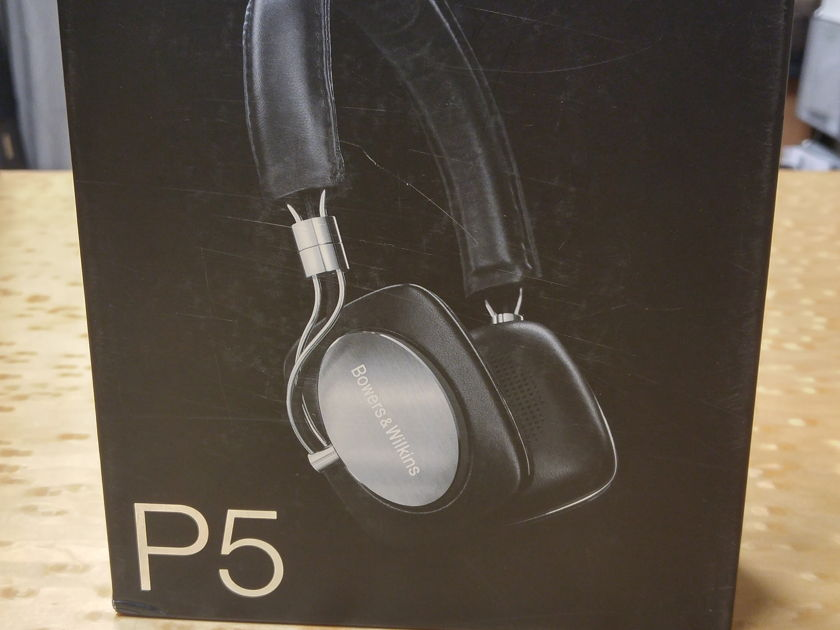 """BOWERS & WILKINS P5 HEADPHONES BLACK AND SILVER """"BRAND NEW IN THE BOX"""""""