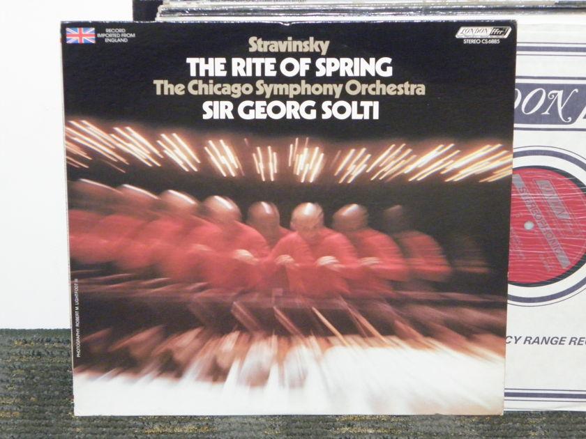 "Sir Georg Solti/Chicago Symphony - Stravinsky ""The Rite Of Spring"" London CS 6775 UK Decca 6W/5W matrix"