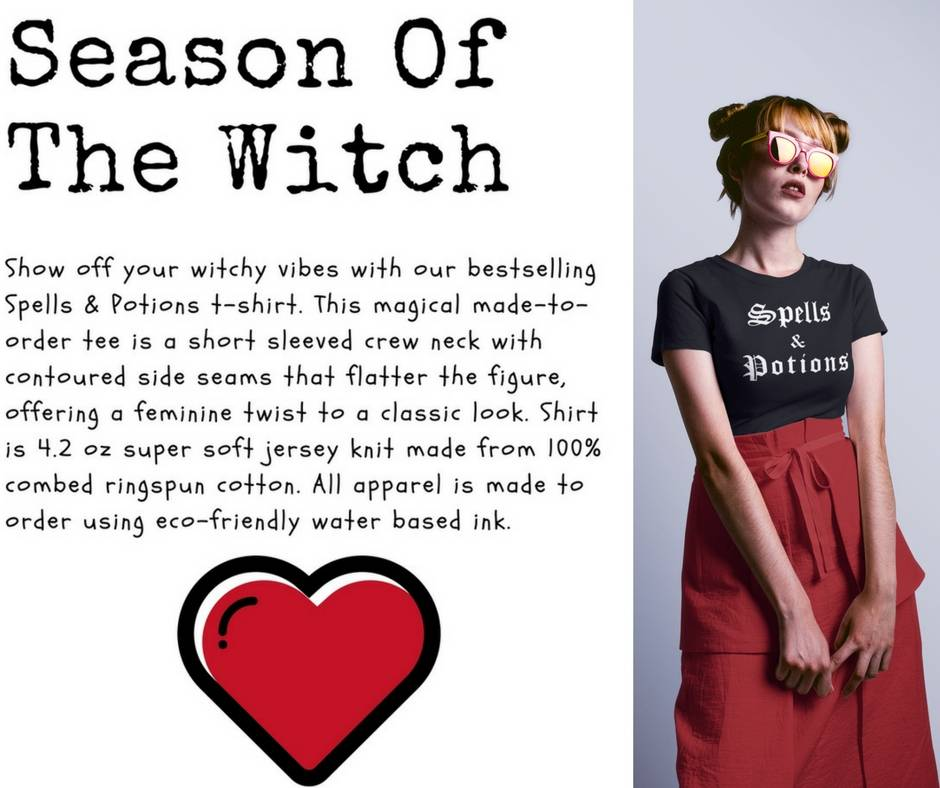 Spells and Potions Witch Shirt