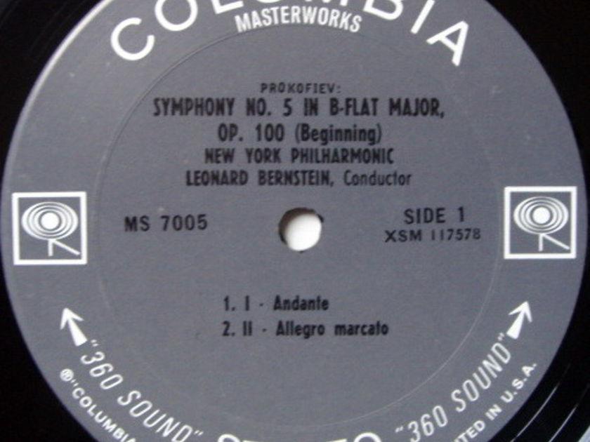 Columbia 2-EYE / LEONARD BERNSTEIN,  - Prokofiev Symphony No.5, MINT!