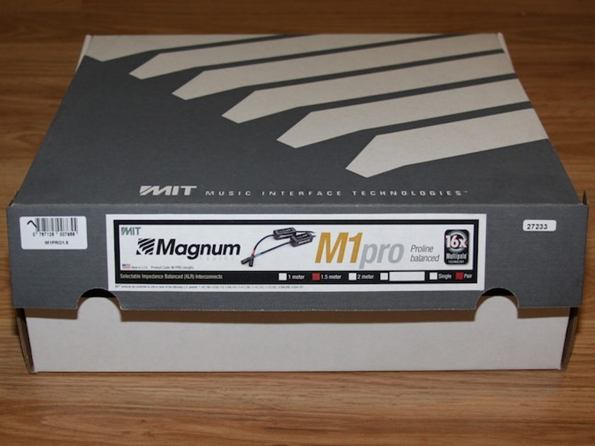 MIT Magnum M1 Proline 1.5 meter XLR interconnects