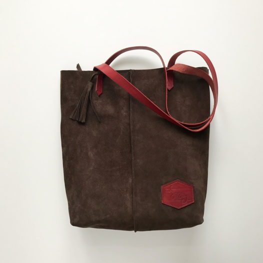 Кожаная сумка-шоппер Tote Coffee