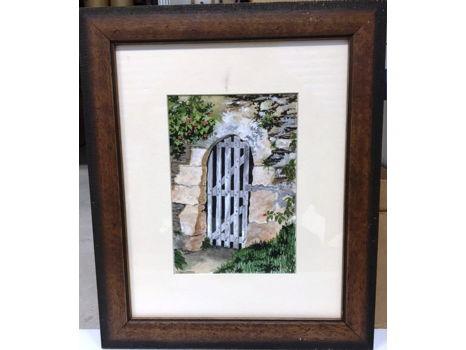 "Joanne Champagne ""Garden Gate - Angers, France"""