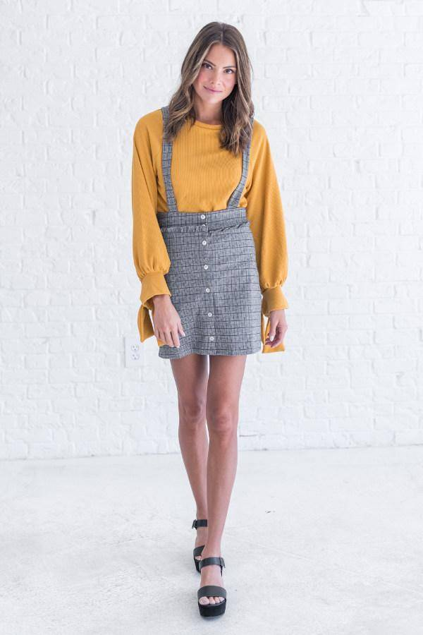 yellow spring top from bella ella boutique