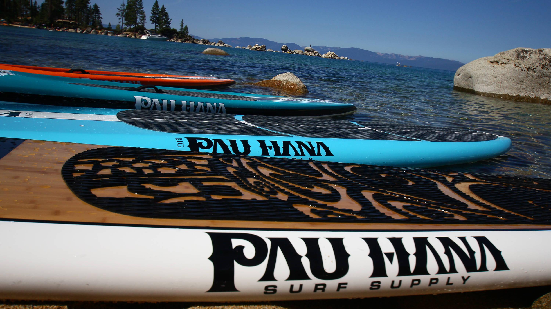 Oahu boards lined up in tahoe