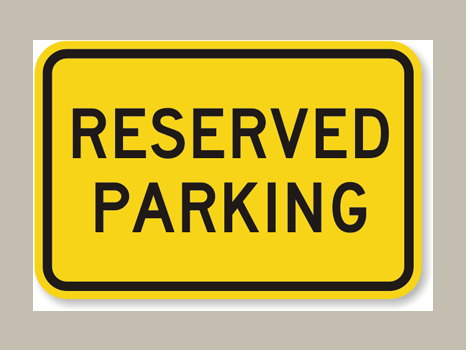 Reserved Parking Codifer Boulevard Entrance 2019-2020 School Year
