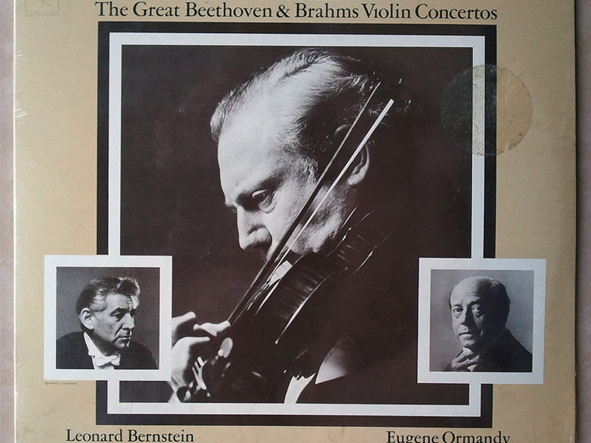 Sealed COLUMBIA | STERN/BEETHOCVEN - & BRAHMS Violin Concertos / 2-LP set