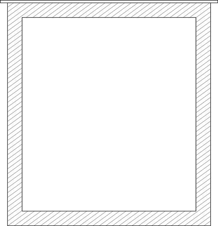 Tafelpoot vierkante poot