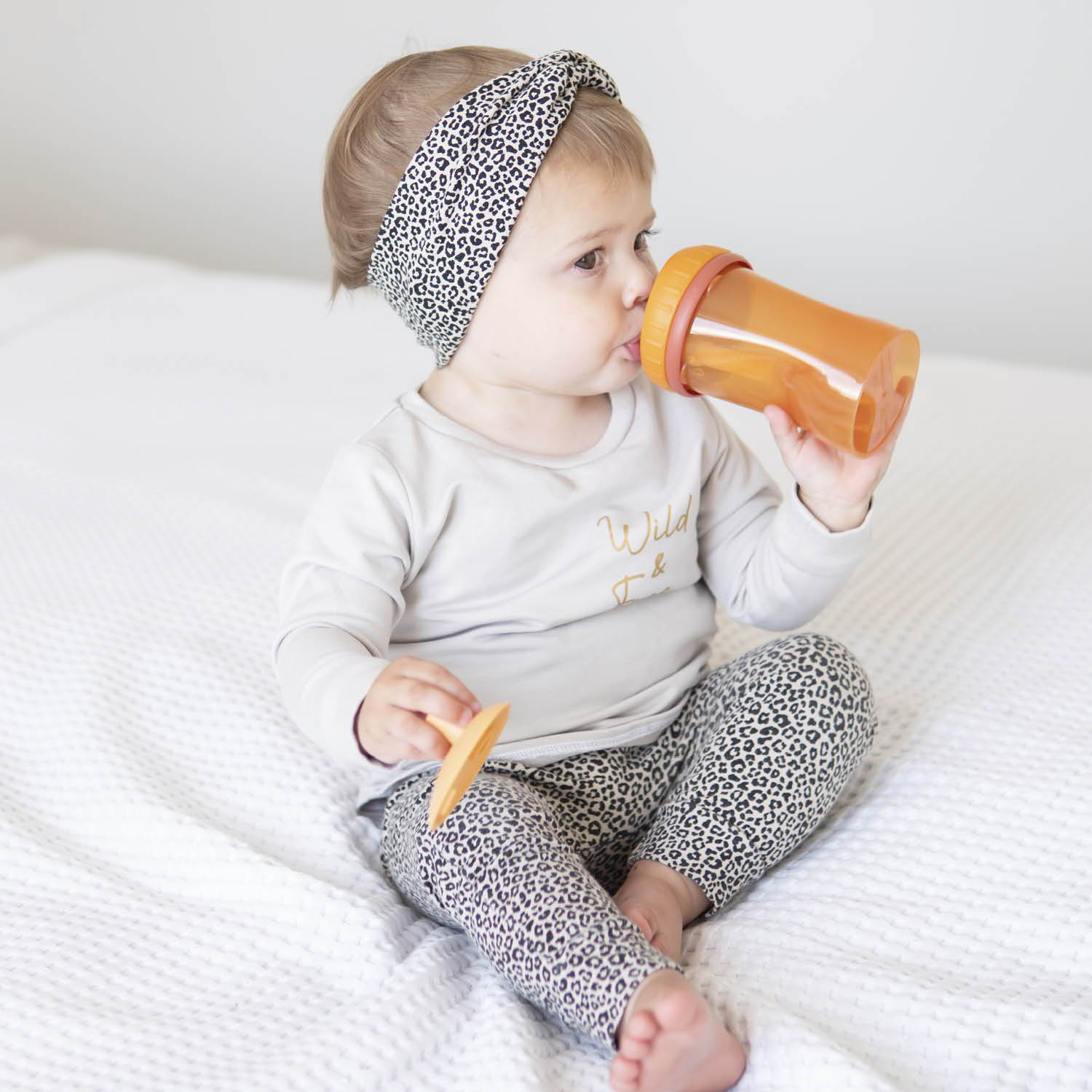 Cup with straw