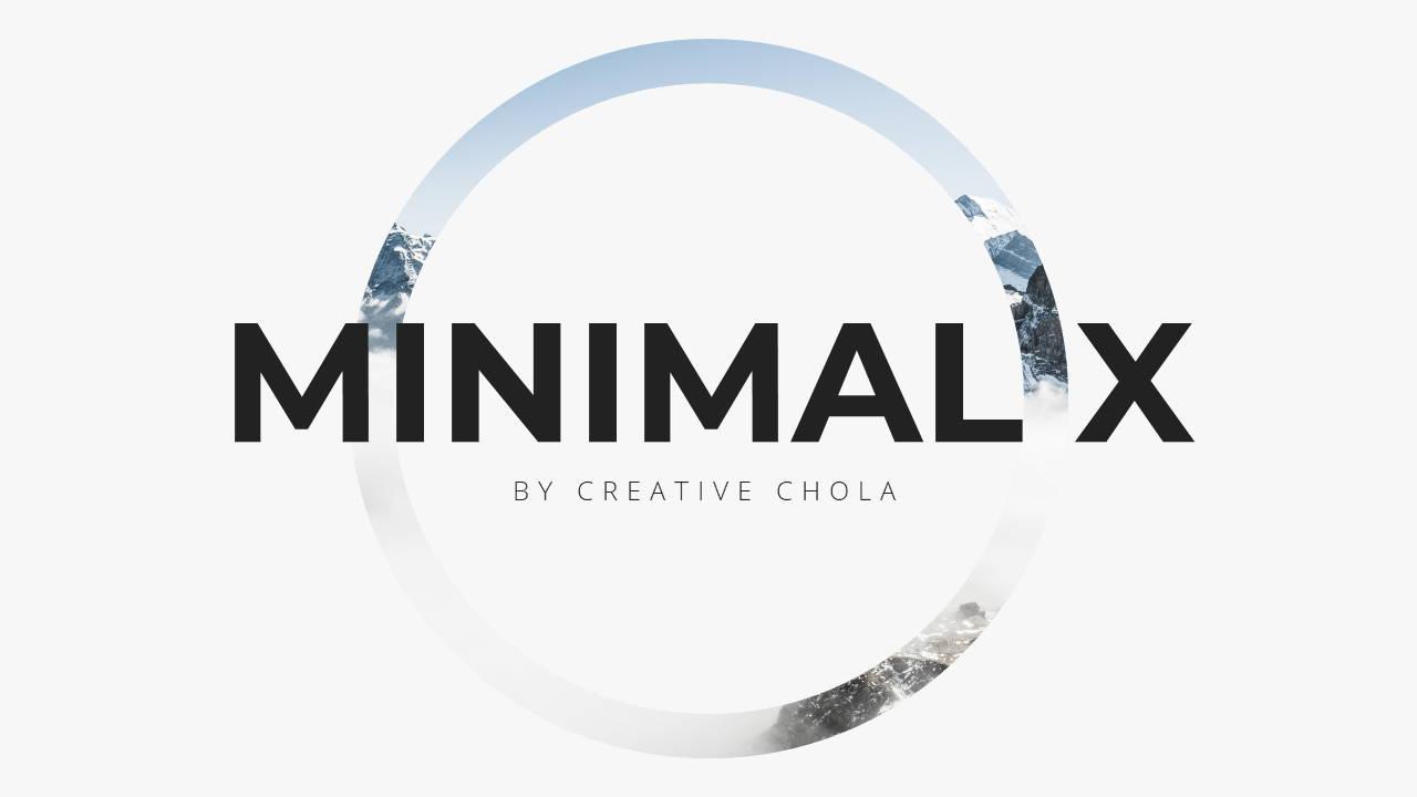 Minimal X  Company Profile Presentation Template Title Page