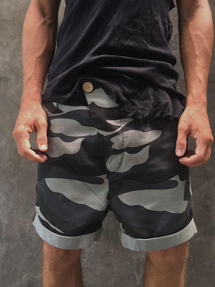 шорты военные хаки милитари асимметричного кроя