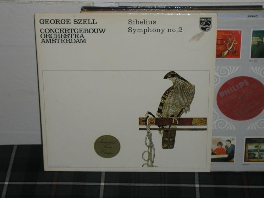 Szell/Coa - Sibelius No.2 Philips import LP 6570