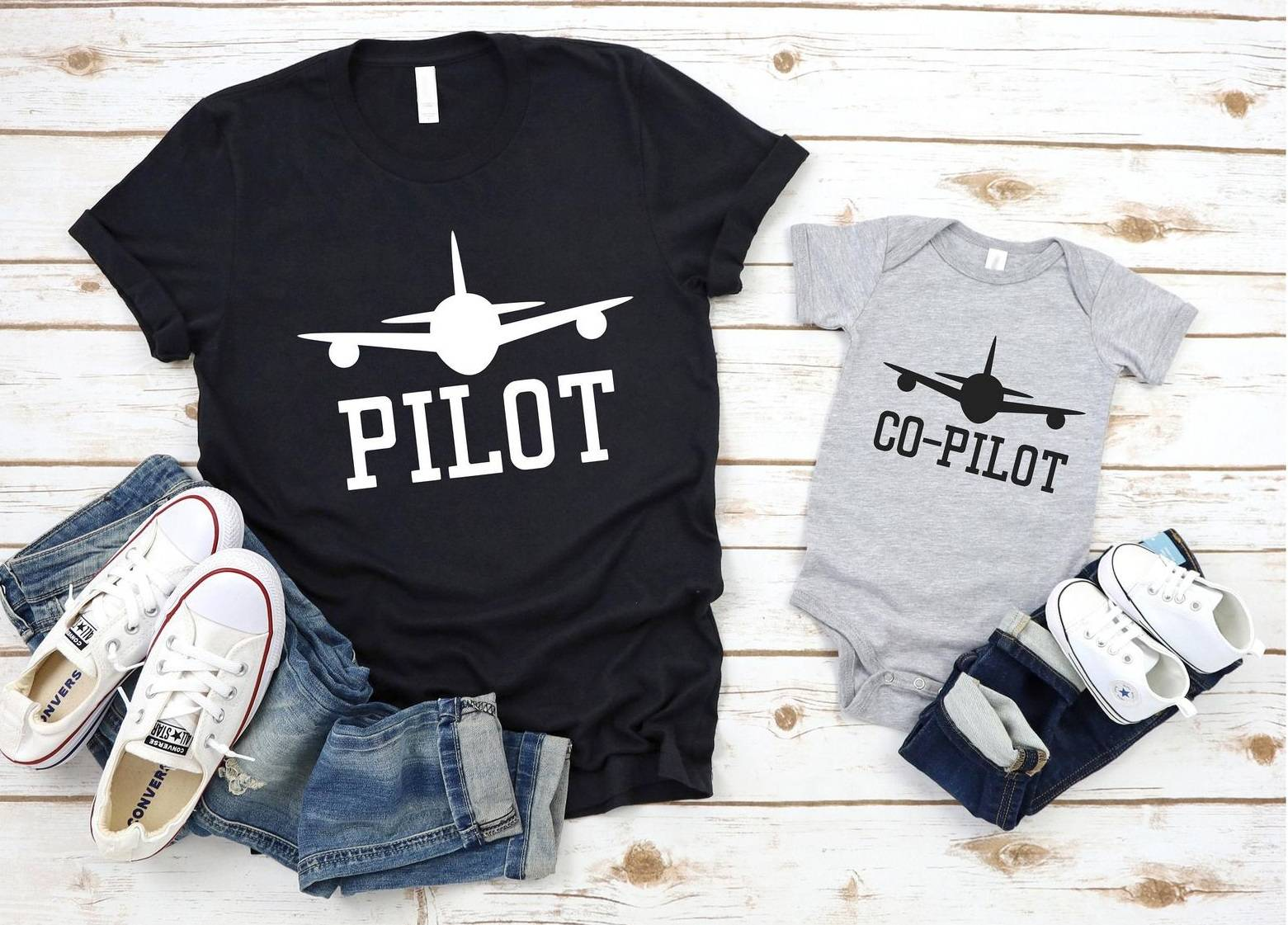 Father & Son Pilot Shirts