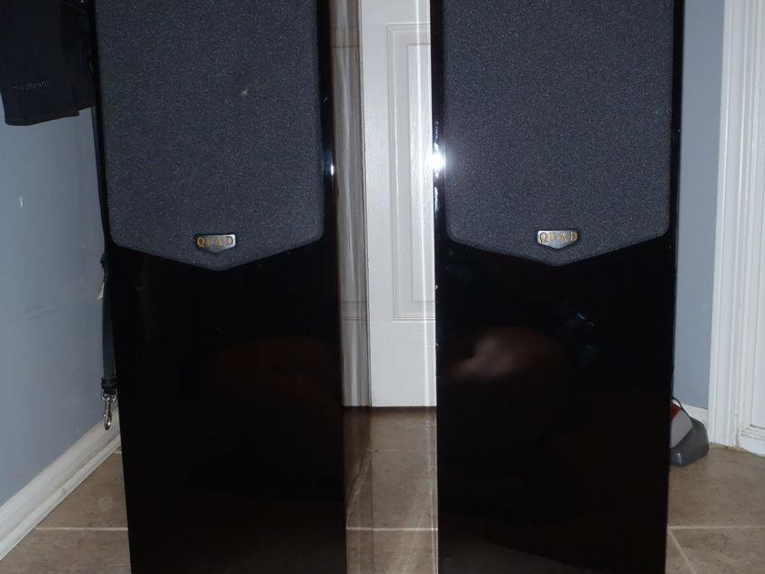 Quad  21L Black Lacquer speakers