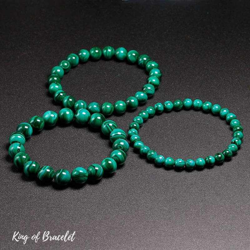 Bracelet de Lithothérapie en Malachite - King of Bracelet