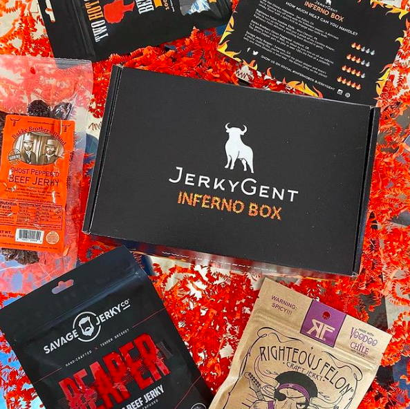 Inferno Hot and Spicy Beef Jerky Subscription Box