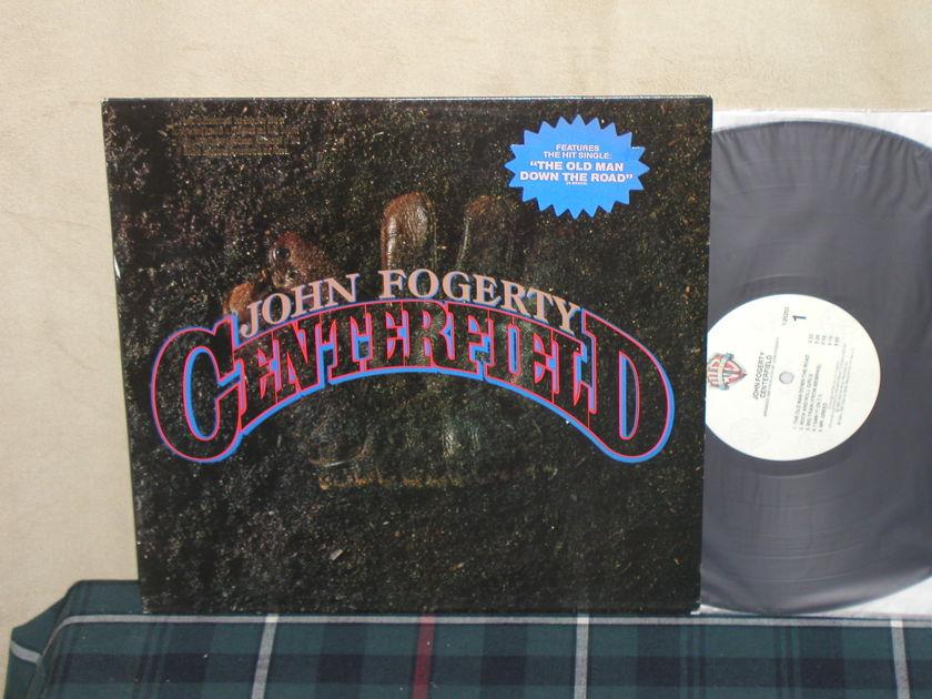 John Fogerty - Centerfield QUIEX PROMO Gold Promo stamp/Song sticker