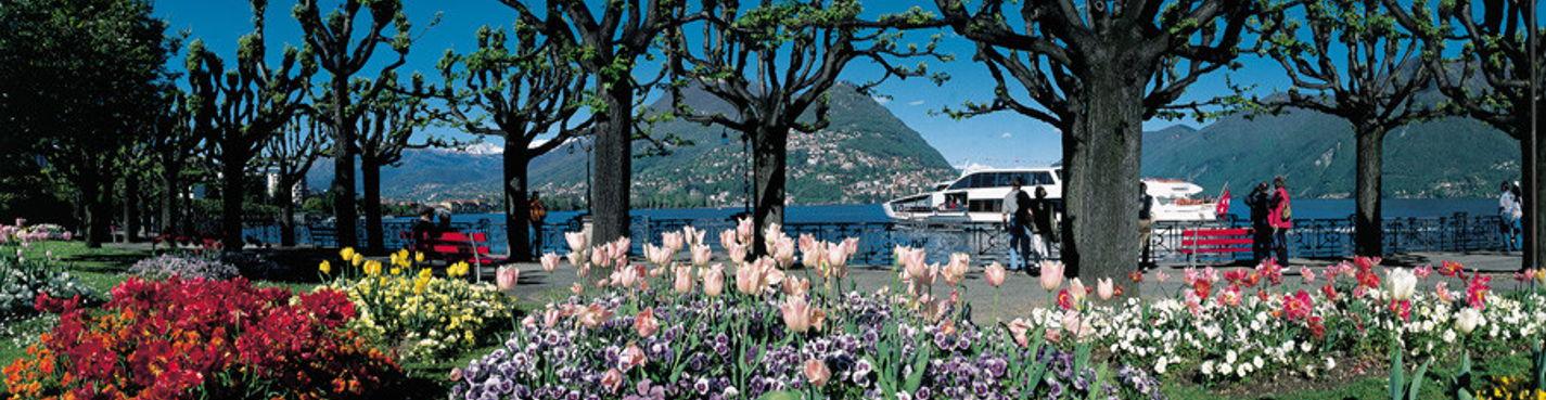 Поездка в Швейцарию (страна с высоты птичьего полета или с борта яхты)