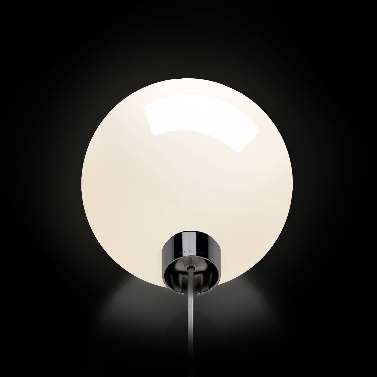 Bulb Table Lamp in Black Nickel
