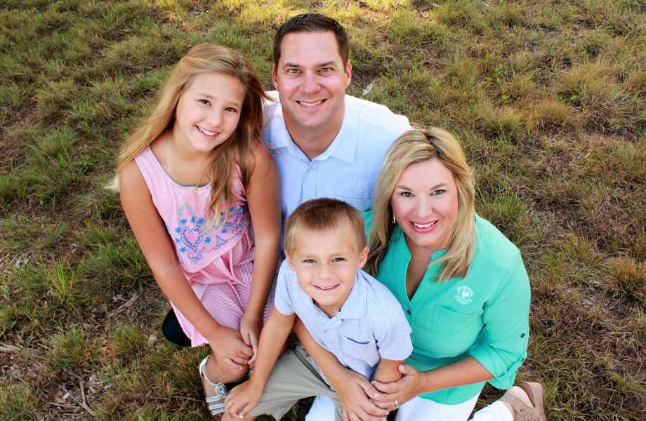 Franchise Owners of Primrose School Rachael and Bo Ashe with their family