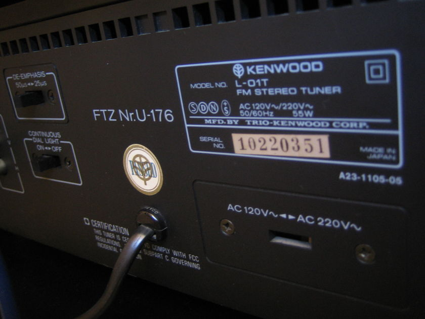 Kenwood L01-T Legendary FM Tuner in excellent condition