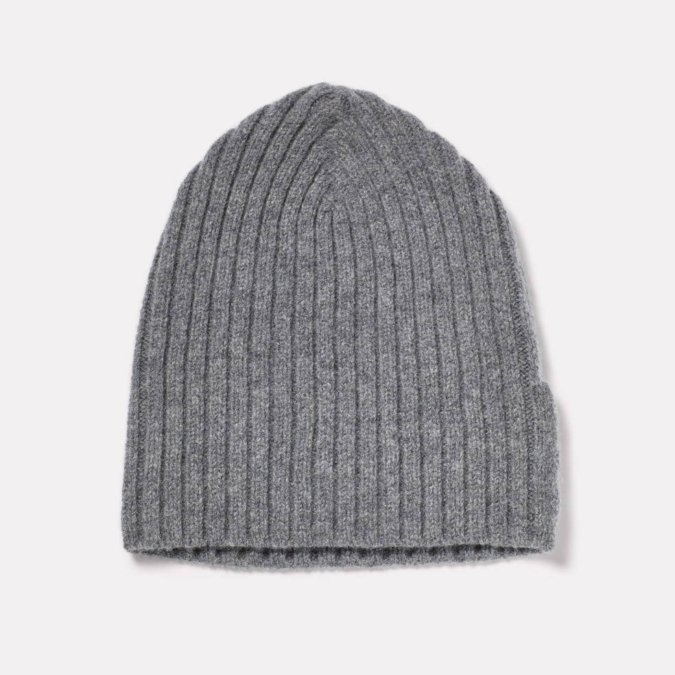 Lambswool Hat in Grey Mix