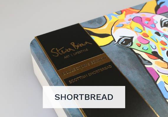Shortbread Art Tins  by Scottish Artist Steven Brown