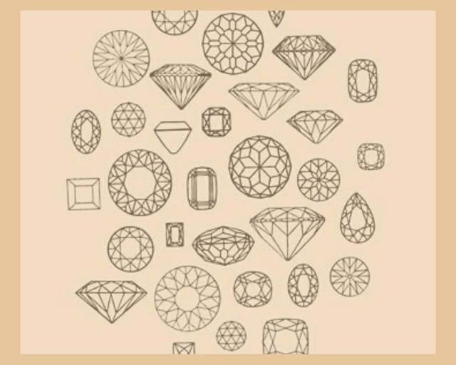 lab-grown diamonds drawings on orange paper
