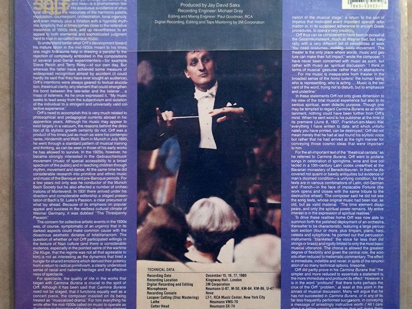Sealed/RCA Digital/Mata/Orff - Carmina Burana / Audiophile German Pressings - Promo copy