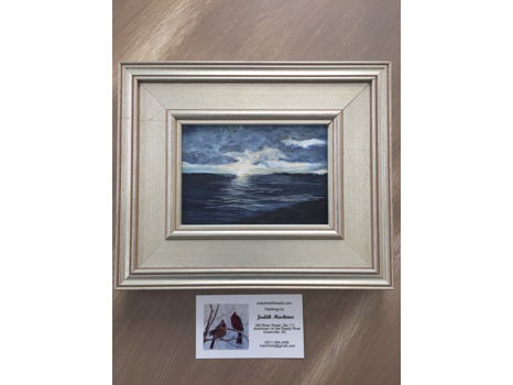 Small, Framed Seascape Painting