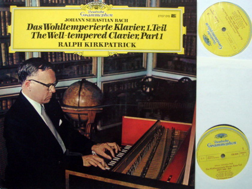 DG / KIRKPATRICK, - Bach Well-Tempered Clavier Part 1, NM, 2LP Set!