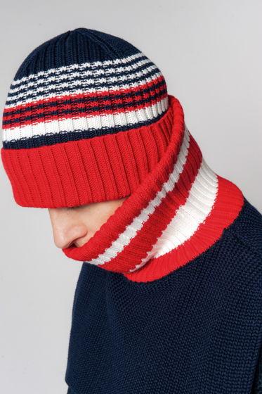 Полосатая шапка с отворотом '16-BIT