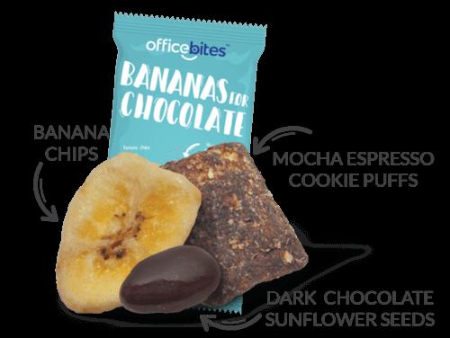 Bananas for chocolate snack
