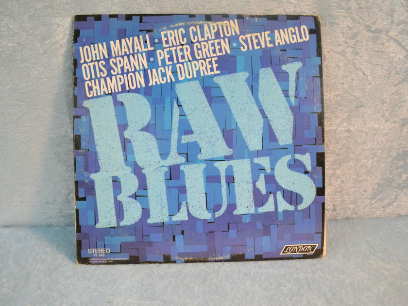 "RAW BLUES - ""Various Artists: Peter Green Eric Clapton John Mayall"" LP/Vinyl"