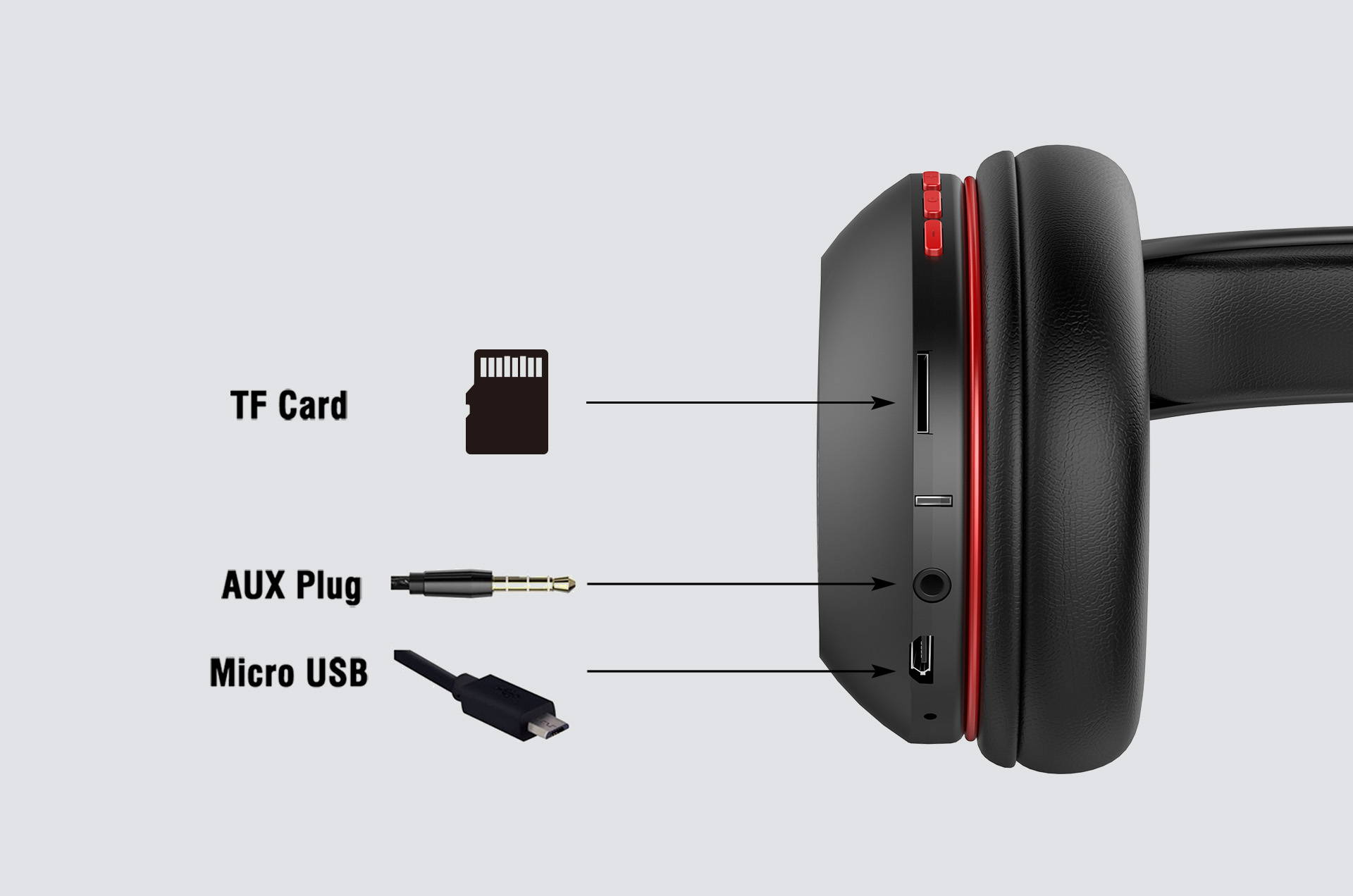 Ausdom M09 Over-Ear Stereo Bluetooth V4.2 Headphones with TF Card Mode
