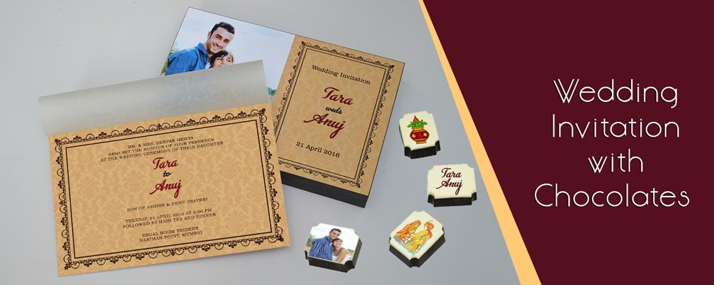Unique invitations for wedding with cards