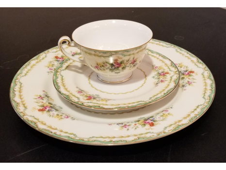 Beautiful Set of China for 12 plus Serving & Coffee