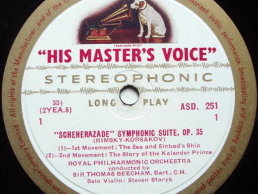 ★1st Press★ EMI ASD WHITE & GOLD / BEECHAM, - Rimsky-Korsakov Scheherazade, NM!