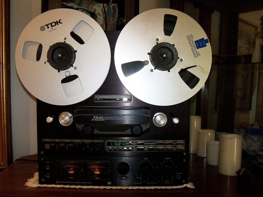 TEAC  X-1000R TEAC REEL TO REEL BLACK FACE VERY GOOD CONDITION