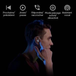 Amazfit Powerbuds - Véritablement sans fil. Détection de port. Fonction Tactile