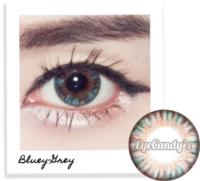 GEO Eyeniq Blue-Grey circle contact lenses