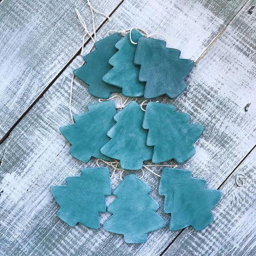 деревянная гирлянда Christmas tree