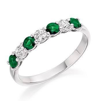 Shaped diamond eternity rings Pobjoy Diamonds