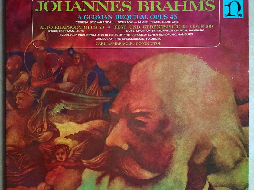 NONESUCH | BAMBERGER/BRAHMS - German Requiem, Alto Rhapsody, Fest- und Gedenkspruche / 2-LP / EX