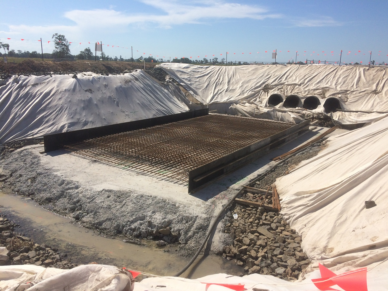 Large culverts were constructed in environmentally sensitive areas