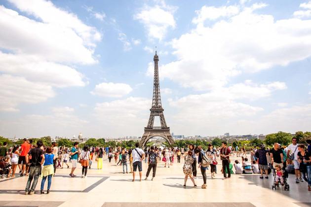 Париж на автобусе и с высоты Эйфелевой башни