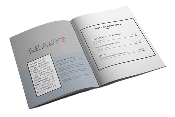 Readiness Playbook which shows you how to prepare and emergency evacuation plan