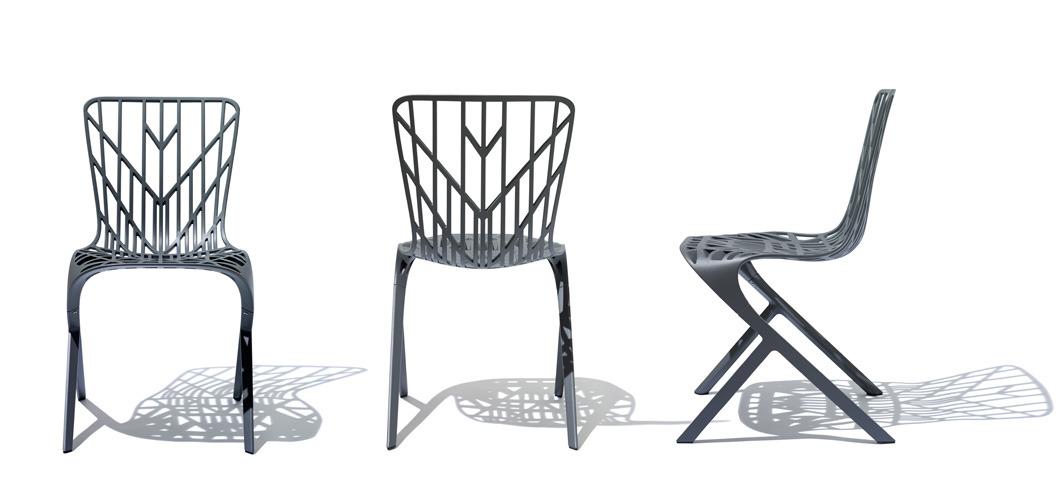 Knoll Washington Skeleton Aluminum Outdoor Side Chair