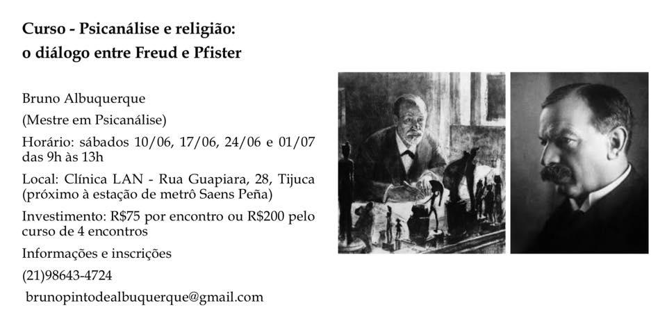 Curso - Psicanálise religião: o diálogo entre Freud e Pfister