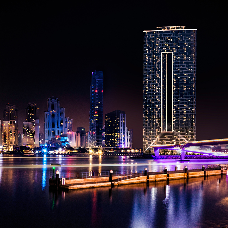 Dubai, United Arab Emirates - The Address Night